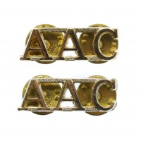 Pair of Army Air Corps (A.A.C.) Anodised (Staybrite) Shoulder Titles