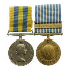 Queen's Korea and UN Korea Medal Pair - Pte. A, Hopkin, King's Ow