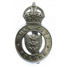 Hull City Police Cap Badge - King's Crown