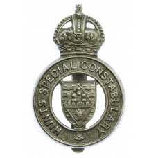 Hunts Special Constabulary Cap Badge - King's Crown