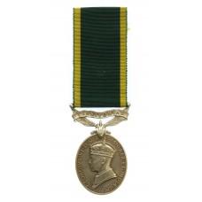 George VI Territorial Efficiency Medal - Dvr. E.J. Edwards, Royal