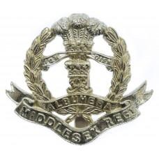 Middlesex Regiment Anodised (Staybrite) Cap Badge