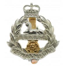 East Lancashire Regiment Anodised (Staybrite) Cap Badge