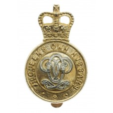 7th Queen's Own Hussars Anodised (Staybrite) Cap Badge