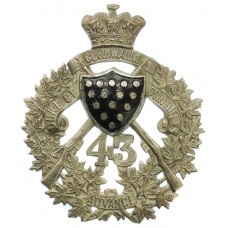 43rd Canadian Regiment of Militia (Duke of Cornwall's Own Rifles)