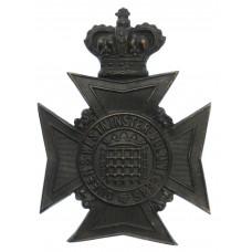 Victorian Queen's Westminster Rifle Volunteers Helmet Plate