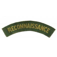 Reconnaissance Corps (RECONNAISSANCE) WW2 Printed Shoulder Title