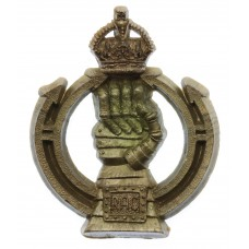 Royal Armoured Corps (R.A.C.) WW2 Plastic Economy Cap Badge