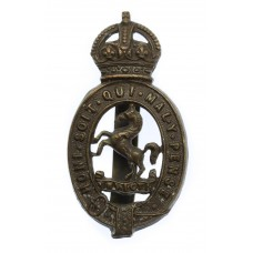 East Kent Yeomanry Cap Badge - King's Crown