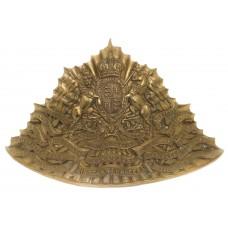 Edwardian 16th (Queen's) Lancers Czapska Plate