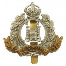 4th Bn. Suffolk Regiment Cap Badge - King's Crown
