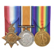 WW1 1914-15 Star Medal Trio - Pte. J.L. Cooper, 4th Bn. King's Ow