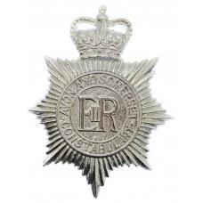Avon and Somerset Constabulary Plastic Helmet Plate - Queen's Cro