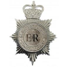 Gloucestershire Constabulary Plastic Helmet Plate - Queen's Crown