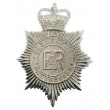 Cleveland Constabulary Helmet Plate - Queen's Crown