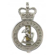 Kent County Constabulary Cap Badge - Queen's Crown
