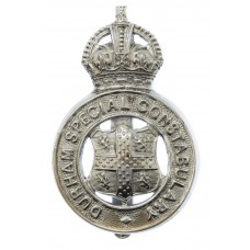 Durham Special Constabulary Cap Badge - King's Crown