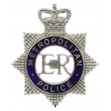 Metropolitan Police Senior Officer's Enamelled Cap Badge - Queen'