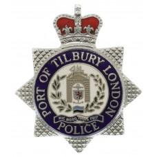 Port of Tilbury London Police Enamelled Cap Badge - Queen's Crown