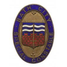 Bath City Police Special Constabulary Enamelled Lapel  Badge