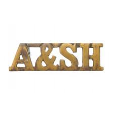 Argyll & Sutherland Highlanders (A & SH) Shoulder Title
