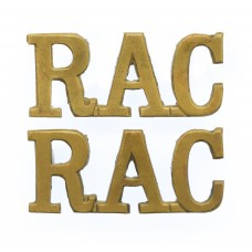 Pair of Royal Armoured Corps (R.A.C.) Shoulder Titles