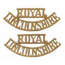 Pair of Royal Lincolnshire Regiment (ROYAL/LINCOLNSHIRE) Shoulder Titles