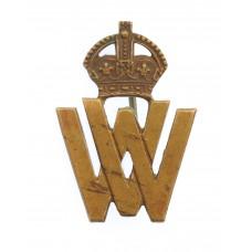 WWI Volunteer Workers (V.W.) Lapel Badge