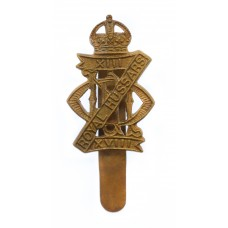 13th/18th Royal Hussars Cap Badge - King's Crown