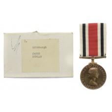Elizabeth II Special Constabulary Long Service Medal in Box - James Duncan, Edinburgh Special Constabulary