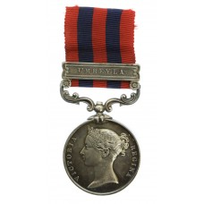 1854 India General Service Medal (Clasp - Umbeyla) - Pte. J. Wilk