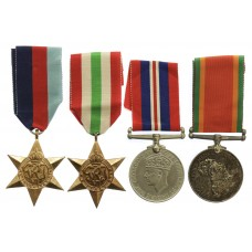 WW2 South African Intelligence Corps Medal Group of Four - Cpl. F