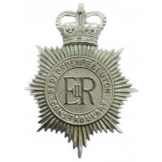 Bedfordshire & Luton Constabulary Helmet Plate - Queen's Crow