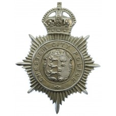 Chester City Police Helmet Plate - King's Crown