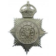 Wigan Borough Police Helmet Plate - King's Crown