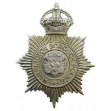 Warrington Borough Police Helmet Plate - King's Crown