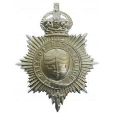Bath City Police Helmet Plate - King's Crown