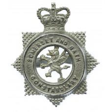 Somerset and Bath Constabulary Cap Badge - Queen's Crown