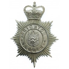 Brighton Borough Police Helmet Plate - Queen's Crown
