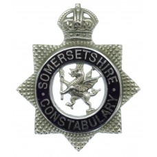 Somersetshire Constabulary Senior Officer's Enamelled Cap Badge - King's Crown