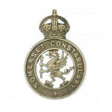 Somerset Constabulary Collar Badge - King's Crown
