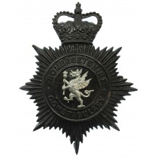 Somersetshire Constabulary Night Helmet Plate - Queen's Crown