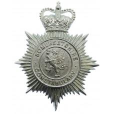 Somersetshire Constabulary Helmet Plate - Queen's Crown