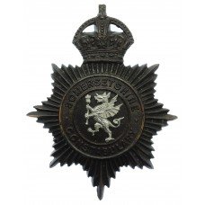 Somersetshire Constabulary Night Helmet Plate - King's Crown