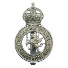 Somersetshire Constabulary Cap Badge - King's Crown