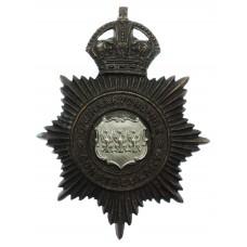 Caernarvonshire Constabulary Night Helmet Plate - King's Crown