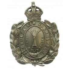Caernarvonshire Constabulary Wreath Helmet Plate - King's Crown