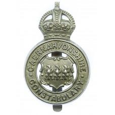 Caernarvonshire Constabulary Cap Badge - King's Crown