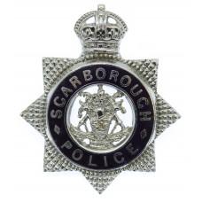 Scarborough Borough Police Senior Officer's Cap Badge - King's Crown
