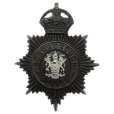 Scarborough Borough Police Night Helmet Plate - King's Crown